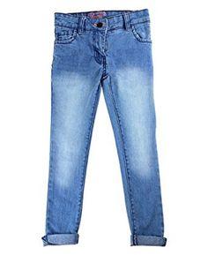Girls Penguin Jeans Light Blue Crinkle Effect Slim Fit Denim Jeans.Ages:2-10yrs Girls Penguin Original Jeans, £9.99, FREE UK DELIVERY
