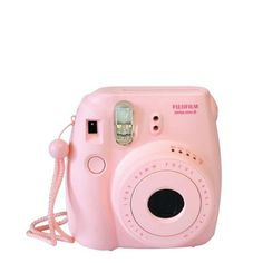 Hit the road, beach or pool with your instax mini 8. Fuji's super stylish instant camera features simple exposure adjustment and automatic flash. Easy portability with a collapsible lens, camera strap