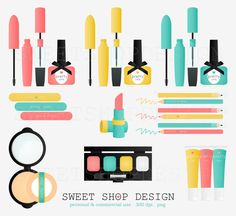 Pretty Things Makeup Clip Art, Bridal Clip Art, Royalty Free Clip Art, Instant Download on Etsy, $4.95