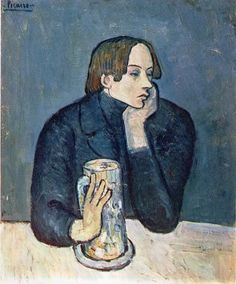 Pablo Picasso Blue Period and famous paintings. Information about Pablo Picasso artwork. Buy the Barcelona Museum Pass and Skip the line at the Picasso Museum. Kunst Picasso, Art Picasso, Picasso Blue, Picasso Paintings, Art Paintings, Georges Braque, Portrait Picasso, Cubist Portraits, Male Portraits