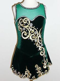 CUSTOM MADE TO FIT BEAUTIFUL ICE SKATING DRESS