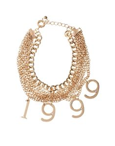party like it's 1999 necklace - asos