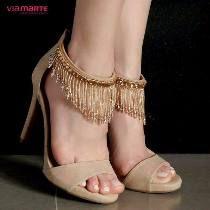 191b4ebf07 Encontre Salto Alto - Sapatos no Mercado Livre Brasil. Descubra a melhor  forma de comprar online. Sandália Social Via Marte Franja Feminina ...