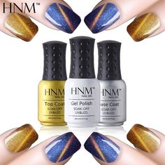 HNM 8ml Magnet Cat Eyes Color Change Gel Nail Polish Chameleon Nail Gel Polish UV Gel Lak Semi Permanent Gel Varnish Gelpolish