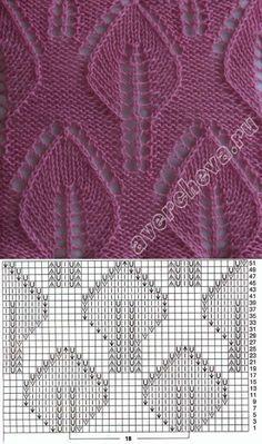 avercheva.ru Lace Knitting Patterns, Knitting Stiches, Free Knitting, Baby Knitting, Crochet Chart, Crochet Motif, Knit Crochet, Gents Sweater, Knit Dog Sweater