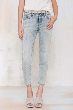 A Gold E Sophie Acid Wash Cropped Skinny | Shop Clothes at Nasty Gal!