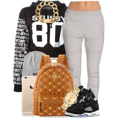 A fashion look from October 2014 featuring Stussy sweatshirts, SELECTED activewear pants and MCM backpacks. Browse and shop related looks.