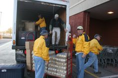 Lions Club bought food & supplies & delivered to flood victims.