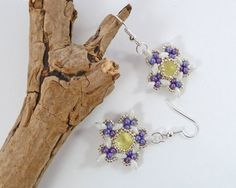 Spring Flower Dangle Earrings  Swarovski by BeauBellaJewellery #spring #flower #earrings