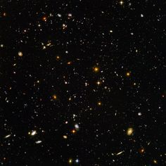 A view of many, many, many galaxies. Makes you feel small, doesn't it?