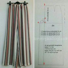 Pattern Sewing: باترون مفصل لعباية خليجية Her Crochet Tesettür İç Çamaşır Modelleri 2020 Sewing Pants, Sewing Clothes, Diy Clothes, Dress Sewing Patterns, Clothing Patterns, Pattern Sewing, Moda Afro, How To Hem Pants, Pants Pattern