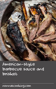 American-style barbecue sauce and brisket Pork Recipe In Oven, Roast Meat Recipe, Cooked Pork Recipes, Meat Sauce Recipes, Barbecue Sauce Recipes, Roast Beef Recipes, Beer Recipes, Grilling Recipes, Dove Recipes