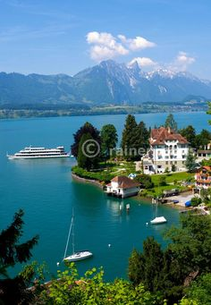 Just where I want to live! I researched this place last night! Great Places, Places To See, Beautiful Places, Places In Europe, Places To Travel, Lake Thun, Site History, Worldwide Travel, Park Hotel