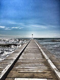 Jesolo, Italy Railroad Tracks, Waves, Italy, Photography, Kunst, Italia, Ocean Waves, Beach Waves, Train Tracks