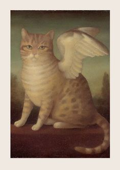 Huck is our angel kitty! Art by Stephen Mackey. Crazy Cat Lady, Crazy Cats, Son Chat, Gatos Cats, Arte Popular, Cat Art, Cats And Kittens, Cat Lovers, Creatures