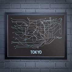 Tokyo Subway Line Poster