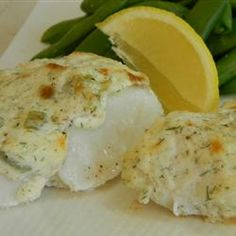 ... sour cream baked halibut with sour cream parmesan and dill topping