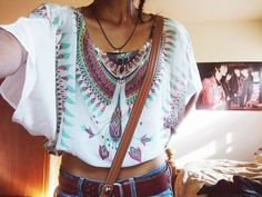 cropped tee.