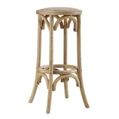 Flint Rattan Seat Backless Bar Stool