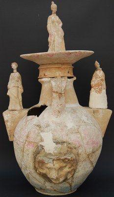 Terracotta vase from Taranto,2nd cent.BC Taranto's  Archeological Museum Greek culture