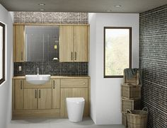 Dune - The warm, neutral tones and woodgrain texture of this stunning finish make Dune a modern and luxurious bathroom style.
