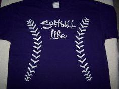 Softball Shirt - Softball Life - Purple