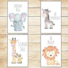 Safari Nursery Decor Wall Art Baby Animal Prints