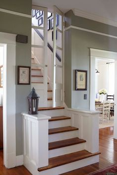 Visiting Erin & Ben Napier's 1925 Craftsman in Laurel, Mississippi - Life at Cloverhill.I Like these Doors need them at the top of our stairs! Home Town Hgtv, Bungalows, Stairways, French Doors, My Dream Home, Home Projects, Future House, House Plans, Sweet Home