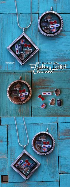 Doctor Who Floating Locket Charms DIY!