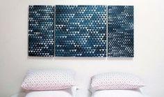 Haz un sello para crear un estampado geométrico. | Hazlo tú mismo: 39 formas de crear arte para tus paredes