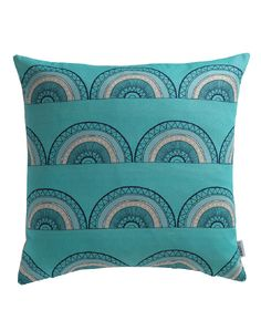 The Horseshoe Arch design features the Sian Elin signature hand-writing in scalloped geometric designs to create a unique and memorable pattern. Cushions For Sale, Luxury Cushions, Pillows, Turquoise Cushions, Yellow Cushions, Teal Cushion Covers, Geometric Cushions