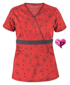 Scrubs, Nursing Uniforms, and Medical Scrubs at Uniform Advantage Red Scrubs, Uniform Advantage, Medical Uniforms, Medical Scrubs, Scrub Tops, Work Attire, Shades Of Red, Gray Color, Short Sleeve Dresses