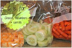 Preschool snacks for every letter of the alphabet!