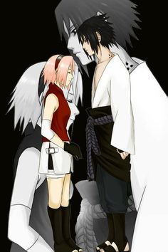 Anime naruto favorite picture of sakura and sasuke(: