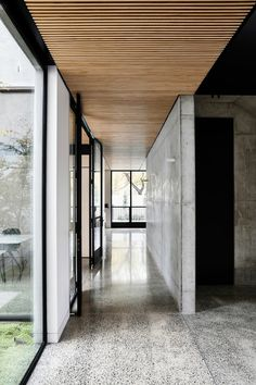 Light Vault House by Chamberlain Architects - The Brighton Concrete Bunker - The Local Project Houses Architecture, Concrete Architecture, Interior Architecture, Futuristic Architecture, Timber Battens, Wood Panneling, Timber Panelling, Wood Slats, Timber Ceiling
