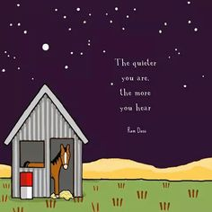 The quieter you are, the more you hear. Inner Me, Ram Dass, Red Tractor, Emotional Abuse, Country Farm, Farm Life, Prayers, Words, Design