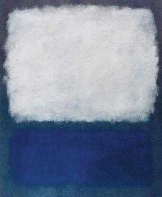 Mark Rothko Blue and grey 1962 painting