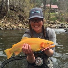 Abbi Bagwell with her first Palomino trout on the fly.