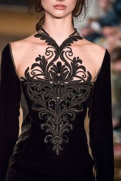 Details from Yulia Yanina Haute Couture Fall 2014 during Paris Fashion Week Style Couture, Couture Details, Fashion Details, Couture Fashion, Runway Fashion, Fashion Design, Paris Fashion, Moda Fashion, High Fashion
