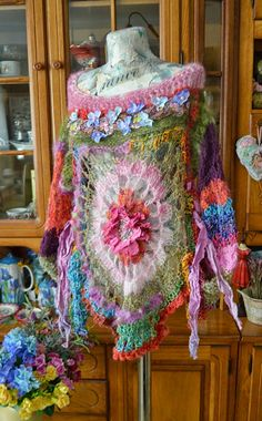 Romanticbohemian freeform crochet and knitted by irinacarmen