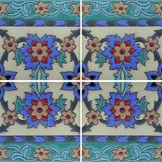 Raised relief Spanish tile