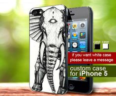 Steampunk Elephant iphone 5 case | TheYudiCase - Accessories on ArtFire