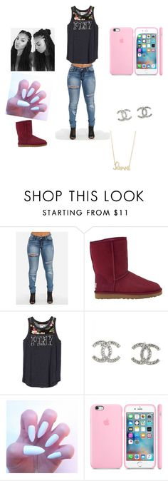 """ Class"" by ayethtslolo ❤ liked on Polyvore featuring UGG Australia, Chanel and Sydney Evan"