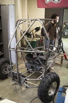 Baja race car being built. Photo by Stephanie Smith.
