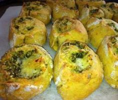 Pumpkin, Chickpea, Pesto & Cheese Scrolls by ArwensThermoPics on www.recipecommunity.com.au