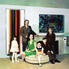 MALCOLM MORLEY. Family portrait. 1968.