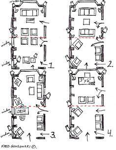 Furniture Arranging   Long   Narrow Living Space Furniture Layout    Furniture LayoutsAngled furniture arrangements works best in narrow room   Narrow  . Furniture Arrangement For Long Narrow Living Room. Home Design Ideas
