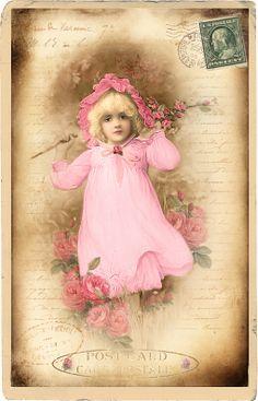 ingekleurd Postcard