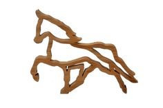 Horse Skeleton style Oak beautiful hardwood wooden ornament home decor handmade unique and unusual. pony equine hunting hunt