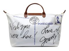 """Le Pliage """"Post Card"""" - Collaboration with Jeremy Scott. back view. Longchamp Collection SS 2012"""